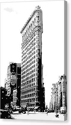 Flatiron Building Bw3 Canvas Print by Scott Kelley