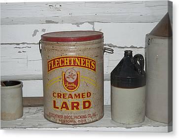 Flechtners Creamed Lard Canvas Print