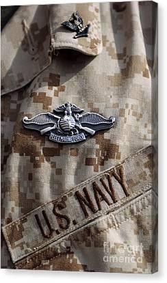 Fleet Marine Force Warfare Device Pin Canvas Print by Stocktrek Images