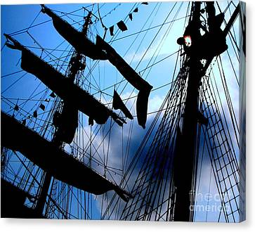 Fleet Week - Masts Canvas Print by Maria Scarfone