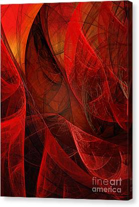 Flickering Flaming Fractal 2 Canvas Print by Andee Design