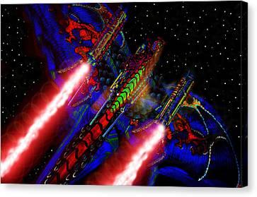 Flight Of The Firey Dragon Canvas Print by David Lee Thompson