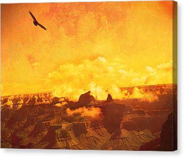 Flight Over Grand Canyon Canvas Print