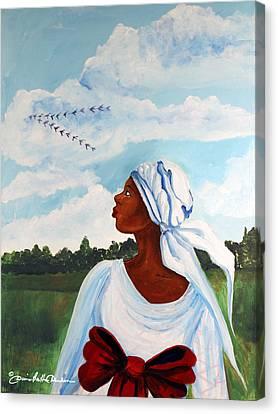 Flight Path Canvas Print by Diane Britton Dunham