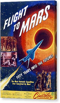 Flight To Mars, 1951, Poster Art Canvas Print by Everett