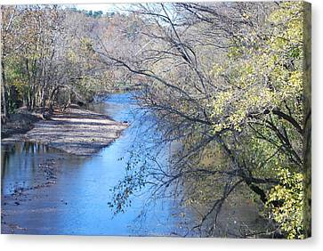 Flint Creek Colcord Oklahoma Canvas Print by Michele Carter