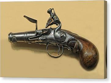 Flintlock Pistol Canvas Print by Dave Mills