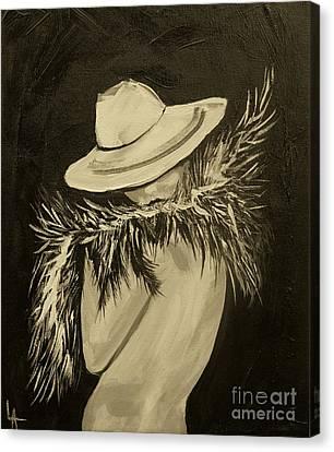 Flirt Three Canvas Print by Leslie Allen