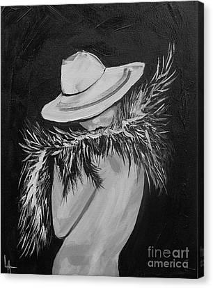 Flirt Two Canvas Print by Leslie Allen