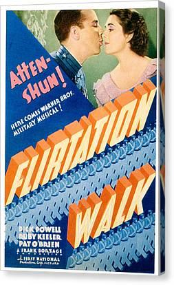 Flirtation Walk, Dick Powell, Ruby Canvas Print by Everett