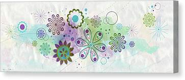 Floating Flowers Canvas Print by Nomi Elboim