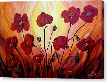 Floating Poppies Canvas Print