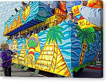 Floating Thru Mardi Gras 2 Canvas Print by Steve Harrington
