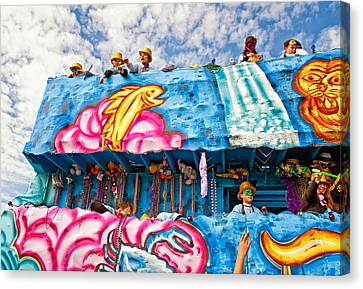 Floating Thru Mardi Gras Canvas Print by Steve Harrington