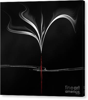Canvas Print featuring the digital art Floating With Red Flow 4 by Johnny Hildingsson