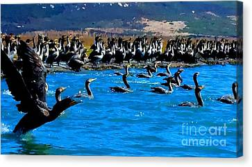 Flock Canvas Print by Tap On Photo