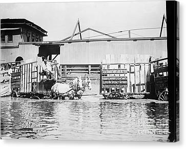 Flooding On The Mississippi River, 1909 Canvas Print by Library of Congress