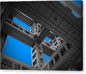 Skylight Canvas Print - Floors Of Fuji Building by Naxart Studio