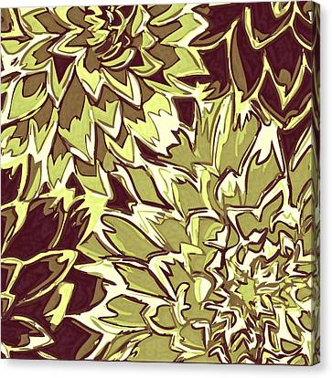 Floral Abstraction 19 Canvas Print by Sumit Mehndiratta