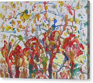 Canvas Print featuring the painting Floral Feel by Sonali Gangane