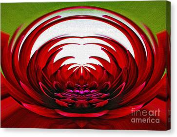 Floral Flames Canvas Print by Kaye Menner