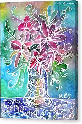 Floral Canvas Print by M C Sturman