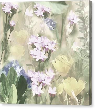 Floral Montage No. 4 Canvas Print by Bonnie Bruno