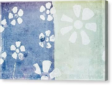 Floral Pattern On Old Grunge Paper Canvas Print by Setsiri Silapasuwanchai