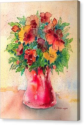 Floral Still Life Canvas Print by Arline Wagner