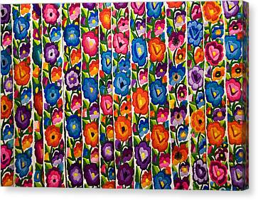 Floral Textile Canvas Print by Gloria & Richard Maschmeyer
