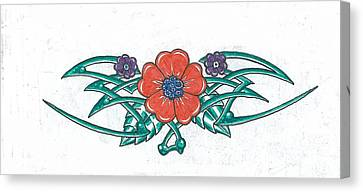 Floral Trible Canvas Print by Kevin Lea