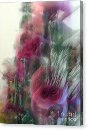 Florals In Motion 2 Canvas Print by Cedric Hampton