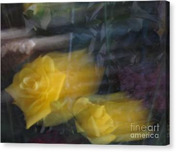 Florals In Motion 7 Canvas Print by Cedric Hampton