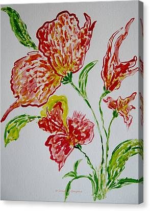Canvas Print featuring the painting Florals by Sonali Gangane