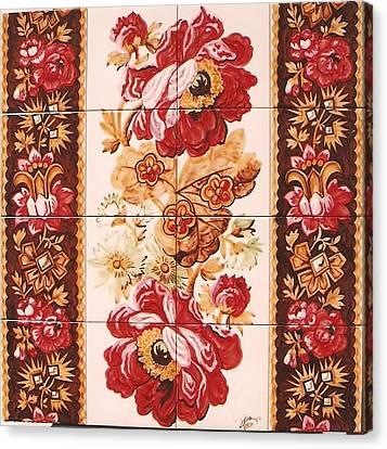 Florao Vermelho Canvas Print by Paula Teresa