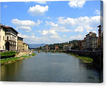Canvas Print featuring the photograph Florence Arno River by Patrick Witz