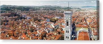 Florence Italy - Panorama -02 Canvas Print by Gregory Dyer