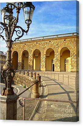 Florence Italy - Pitti Palace - 01 Canvas Print by Gregory Dyer