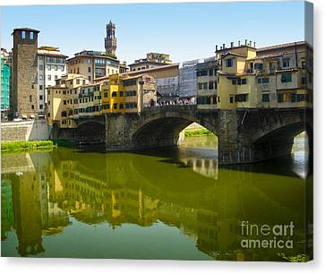 Florence Italy - Ponte Vecchio - 05 Canvas Print by Gregory Dyer