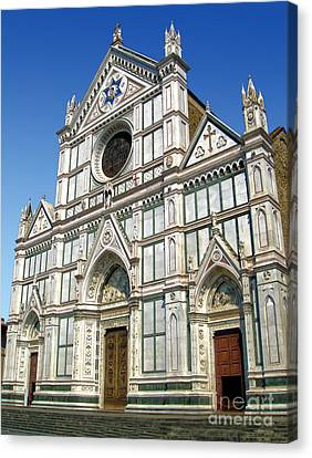 Florence Italy - Santa Croce - 02 Canvas Print by Gregory Dyer