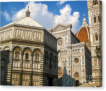 Florence Italy - Santa Maria Del Fiore Canvas Print by Gregory Dyer