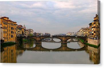 Florence Italy Bridge Canvas Print