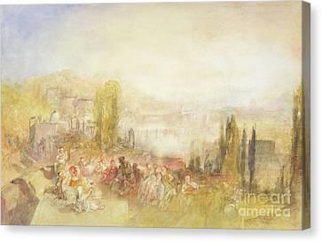 Italian Landscape Canvas Print - Florence by Joseph Mallord William Turner