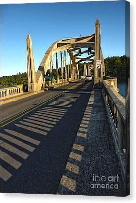 Florence Oregon - Art Deco Bridge Canvas Print by Gregory Dyer
