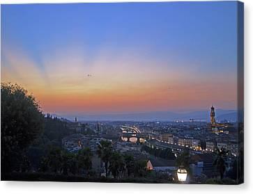Florence Sunset Canvas Print by La Dolce Vita