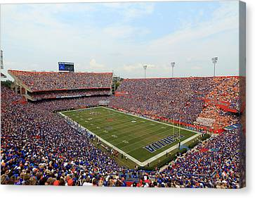 Florida  Ben Hill Griffin Stadium On Game Day Canvas Print by Getty Images