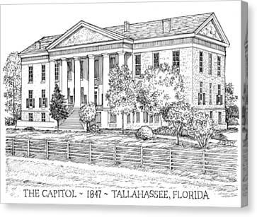 Florida Capitol 1847 Canvas Print