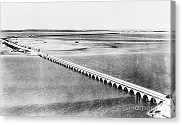 Florida: Overseas Bridge Canvas Print by Granger