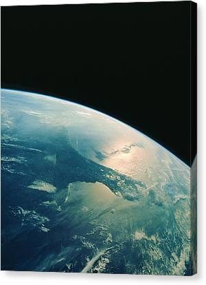 Florida Peninsula From Shuttle Canvas Print by Nasa