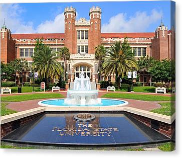 Florida State Fountain At The Westcott Building Canvas Print